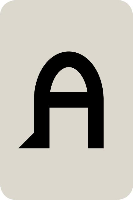 De letter A
