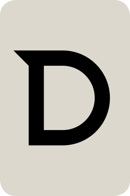 De letter D