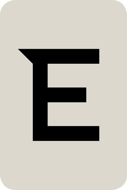 De letter E