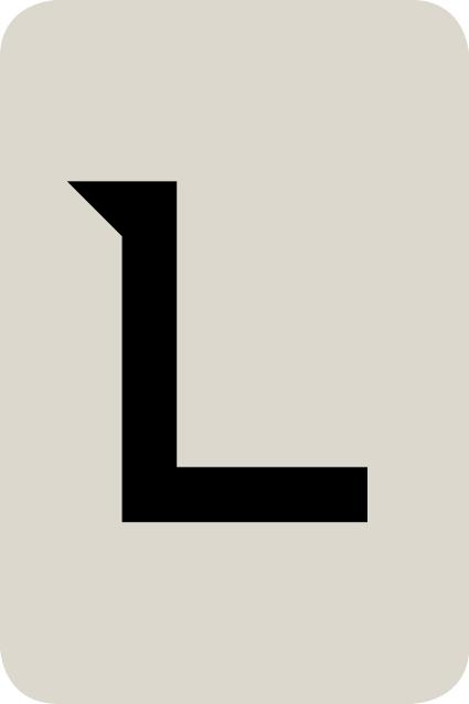 De letter L