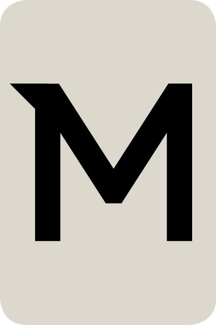 De letter M