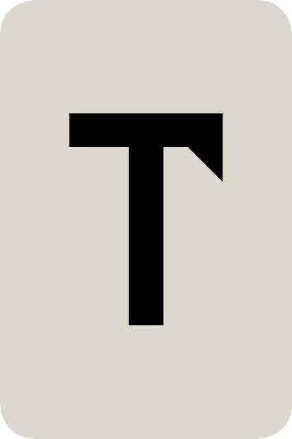 De letter T