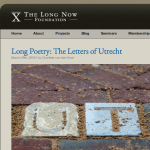 Report on Letters van Utrecht in Blog of the Long Now