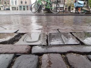 Letters in rain