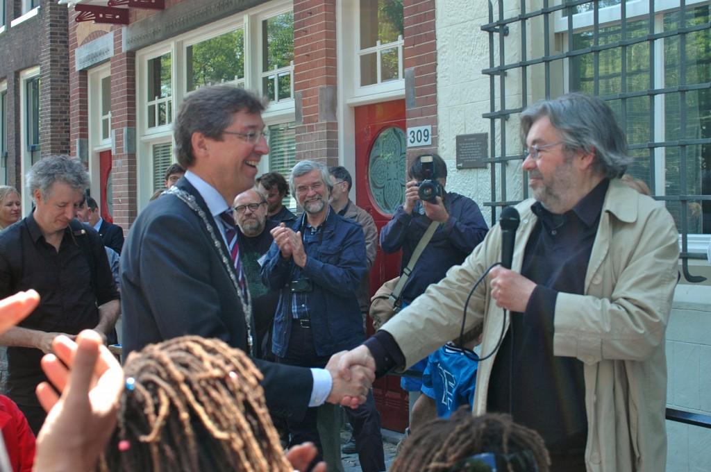 Burgemeester Aleid Wolfsen en Maarten van Rossem