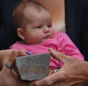 661 Chloé met de zijkant van haar steentje