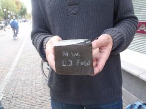 Letter 666 S: op de zijkant Mw. L.J. Fuld