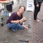 Letter 669 - de eerste letter gemaakt door Paula ligt weer in de straat